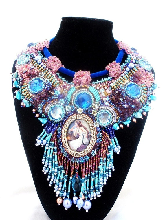High fashion statement necklace  - PREMONITION  - statement jewelry - One of A kind  - free shipping