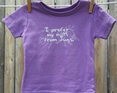 I Prefer My Milk From Jugs - Funny Short Sleeve Baby Tee Shirt - Size 6 Months - Purple