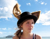 The Mad Hat - Top hat with extra large luxury ears
