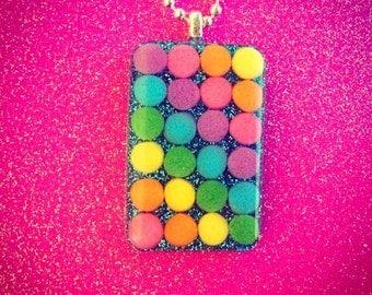 Glittery Rainbow Sprinkle Necklace