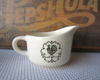 Vintage 1960s Rooster in Green Scio by Provincial Creamer