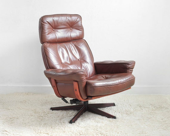 items similar to mid century leather lounge chair modern side wood