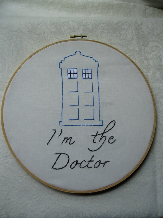 Items similar to dr who i m the doctor tardis hand