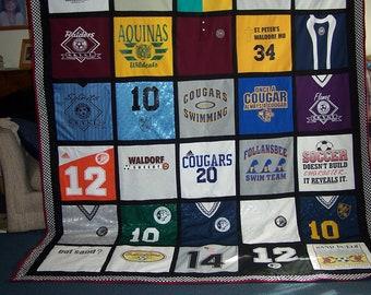 Custom Made t-shirt quilt - DEPOSIT