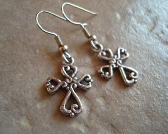 Earrings set Cross (C-304)