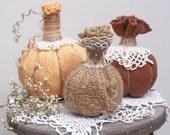 Darling Set of Sweater Pumpkins....Fall Decor