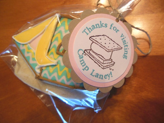 Camping, Glamping Birthday, Baby Shower, Bridal Shower Favor Tags or Labels - Set of 10