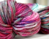 Hand-dyed Wool Yarn in Nóisean - Hand-Painted - OOAK - Worsted Weight - 155 yards