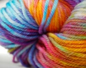 Hand-dyed Wool Yarn in Heidi - Hand-Painted - OOAK - Worsted Weight - 155 yards