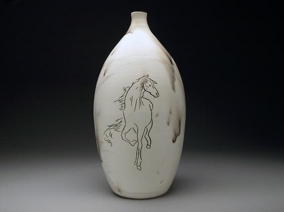Carved Horse Hair Bottle