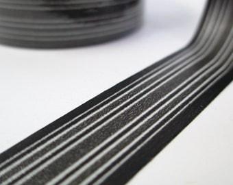 Washi Tape Black Sleek Striped