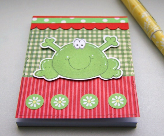 Little Frog Decorated Notepad Jotter