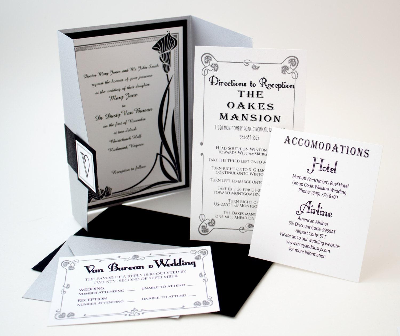 1920s Vintage Wedding Ideas: 1920s Vintage Glam Wedding Invitation Gatsby By