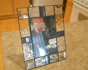 Textured Stained Glass Picture Frame