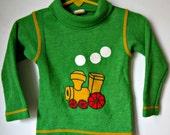 Vintage Carter's Train Applique Toddler Boys Turtleneck Shirt