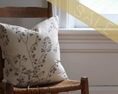 SALE gray berry pillow cover