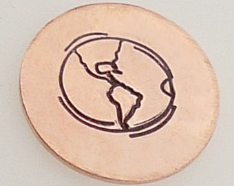 Earth, Globe, World Metal Design Stamp 5mm - Metal Jewelry Stamping Tool The Urban Beader