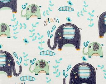 Elephant Splash 14x14 Sweet Bobbins Wet Bag - SEAM SEALED - Snap Strap - Boutique Quality