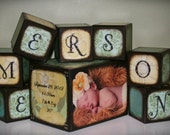 Birth Announcement Blocks