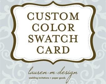 Custom Color Swatch Card