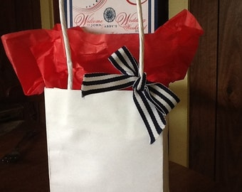 Nautical Wedding Itinerary Cards for OOT bags and out of town guests