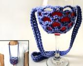 Lanyard Wine Glass Holder - PDF Crochet Pattern - Instant Download