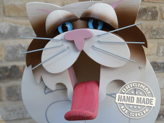 Birdhouse - Ragdoll Cat Handmade Fully-Assembled Wood