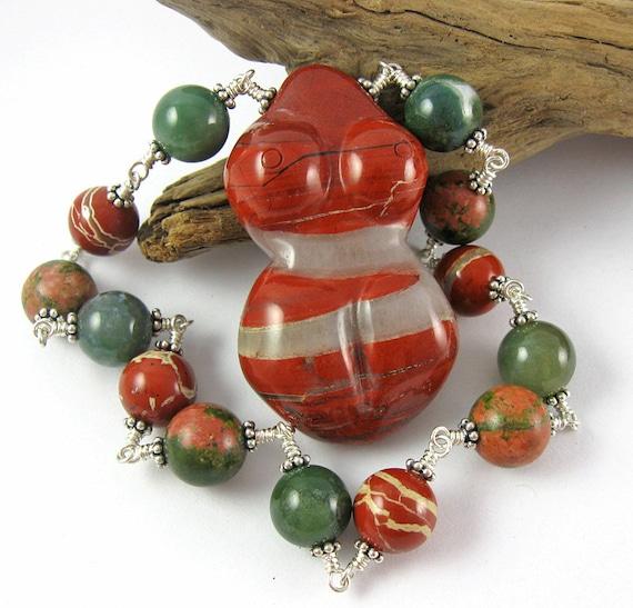 Red Jasper Pocket Birth Goddess Beads - Prayer Beads for Fertility, Pregnancy & Birth