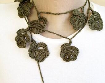 PDF Tutorial Crochet Pattern... Crochet Scarf, Lariat , Necklace -4