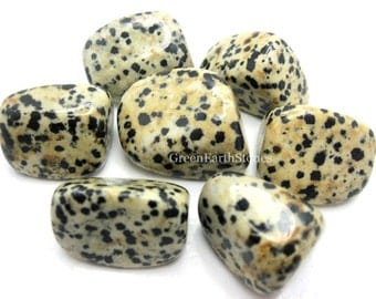 Dalmatian Jasper Tumbled Stone, (one) Rock Hound, Metaphysical Crystals, Crystal Healing, Feng Shui,