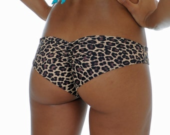 Brown Cheetah Scrunched Bottom- ONE SIZE Fits Most