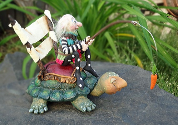 Slow and Steady Wins the Race OOAK Art Doll