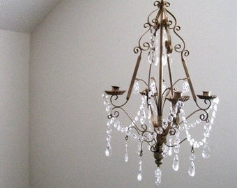 Gwenevere's Firelight Candle Chandelier MADE TO ORDER