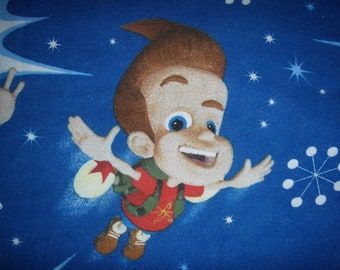 Jimmy Neutron fitted TWIN Flannel Sheet - Reclaimed Bed Linens