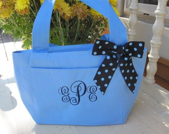 Clearance SALE Baby Blue Insulated Lunch Bag Box Cooler Personalized Womens