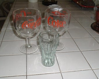 vintage collectible coke glasses
