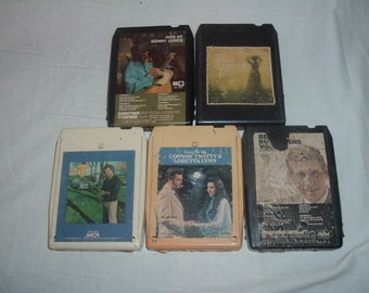 5 8 TRACk  TAPES  assorted artist