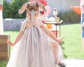 Silly Lil' Elephant Tutu Dress, Vintage Lace Style