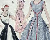 1950s Vintage Sewing Pattern - Butterick 6015 - THE WALKAWAY DRESS - Uncut - Size 18/36