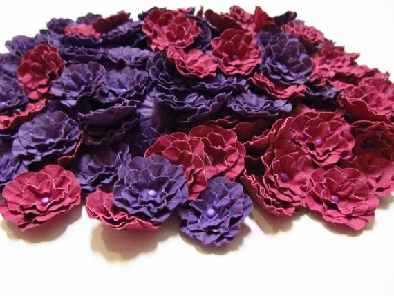 Wedding-Handmade Paper Flowers in Your Choice of Colors-200-1 1/2 inch-Open Flowers