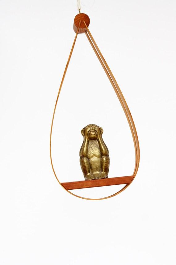 RESERVED - Danish Modern Bentwood Hanging Planter / Mid Century Plant Shelf