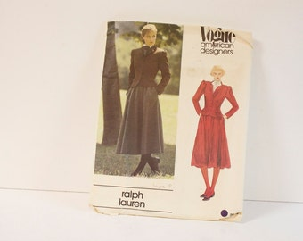 Vintage 1980s Vogue Misses Jacket and Skirt Pattern 2615 Size 8