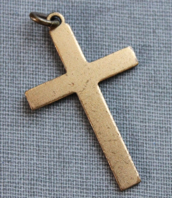 Edwardian Gilt Cross Pendant