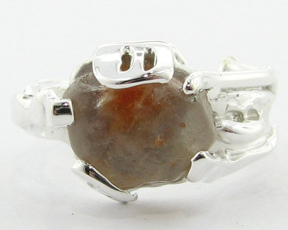 Slightly Less Complicated, a silver and rough ring