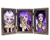 4x6 Mini Print Set The 3 Fates Moirae Sisters