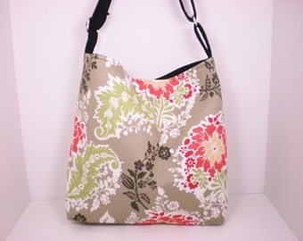Slouchy Hobo Tote with Adjustable Strap--In Your Choice of Fabrics