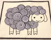 Cutsie Sheep Machine Embroidered Iron On Patch