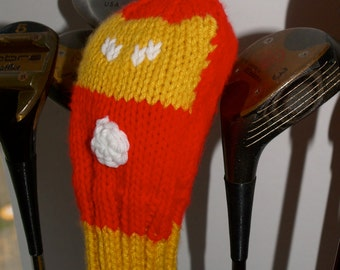 Knit PATTERN Iron Man Golf Club Cover PDF