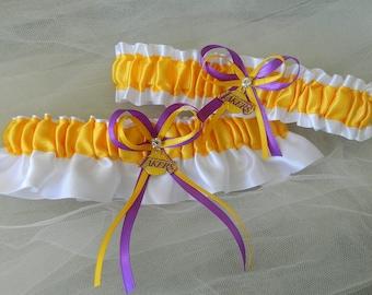 Los Angeles Lakers-  Theme Wedding Garter Bridal Garter