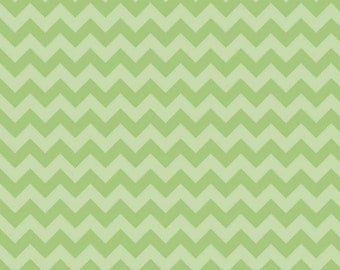 Chevron Small Green Tone on Tone by Riley Blake - 1 Yard